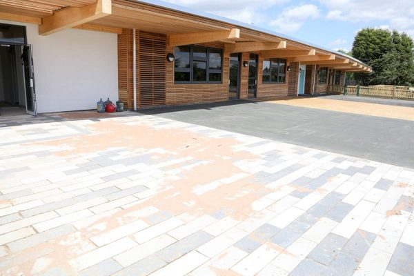 Coloured Paving at Fossebrook School