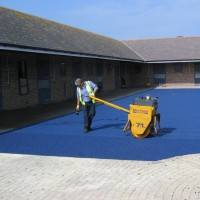 Coloured Asphalt | Colourtex Blue Coloured Asphalt | Bituchem Group