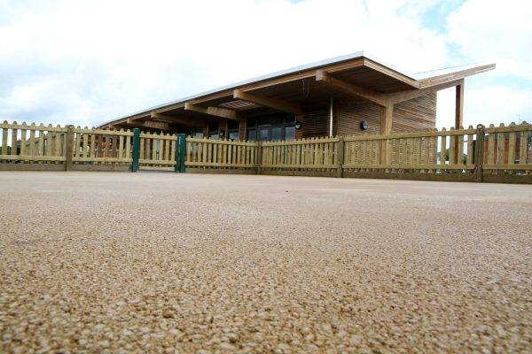 Decorative Hard Landscaping at Fossebrook School