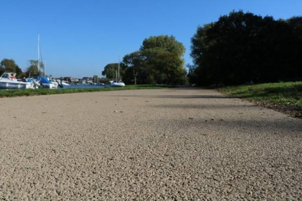 Decorative Cycle paths in Bournemouth using NatraTex Cotswold