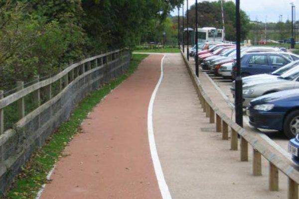 NatraTex Coloured Hard Landscaping for Cycleways