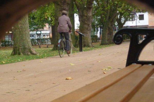 Park cycleways using NatraTex Surfacing