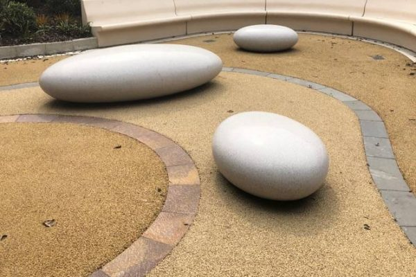 Decorative surfacing for decorative landscaping
