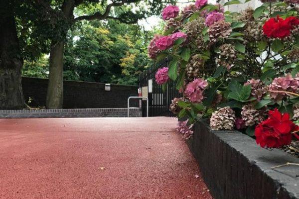NatraTex red installed at Edgbaston Preparatory School