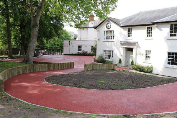 Decorative paving at Edgbaston School