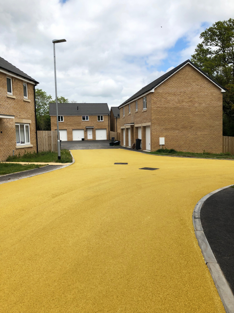 Residential Roadway in NatraTex Colour Gold