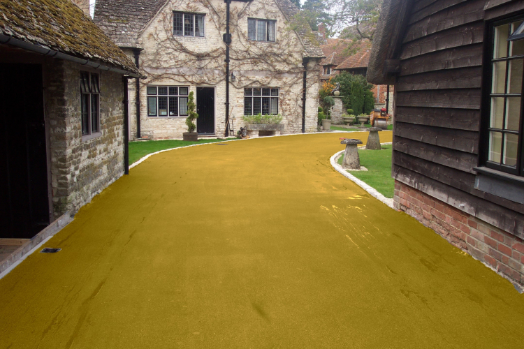 Footpath in NatraTex Colour Gold