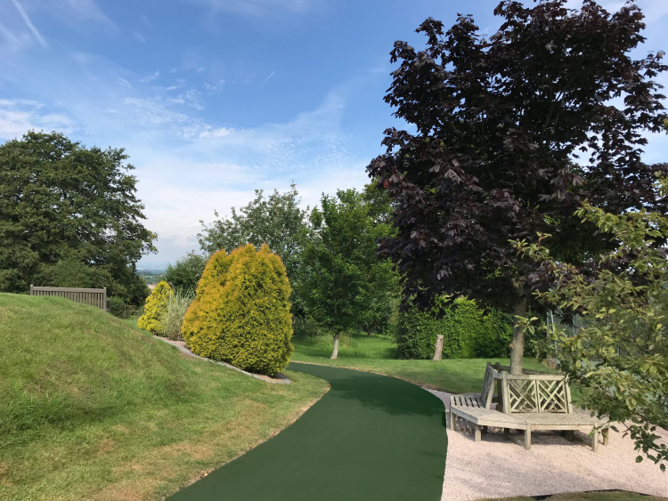 NatraTex Colour Green Park Footpath