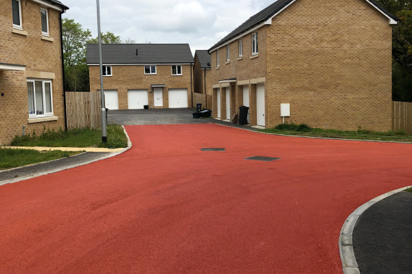 Surfacing made of NatraTex Colour Red