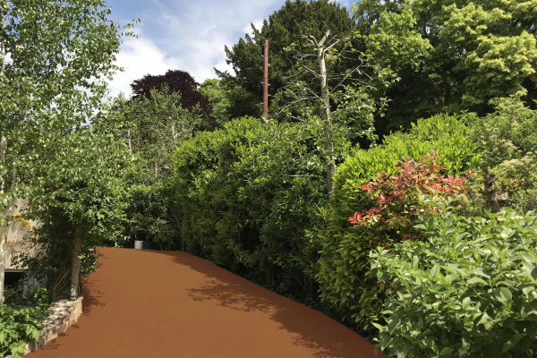 Park Footpath in NatraTex Colour Terracotts