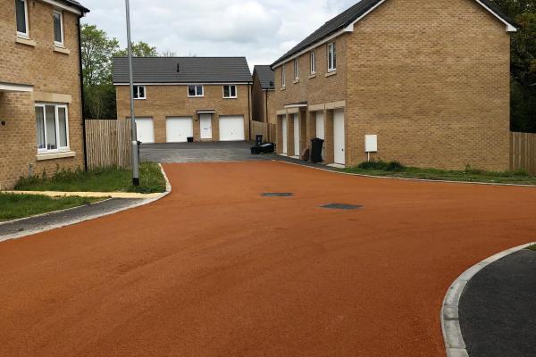 NatraTex Colour Terracotta in Residential Development