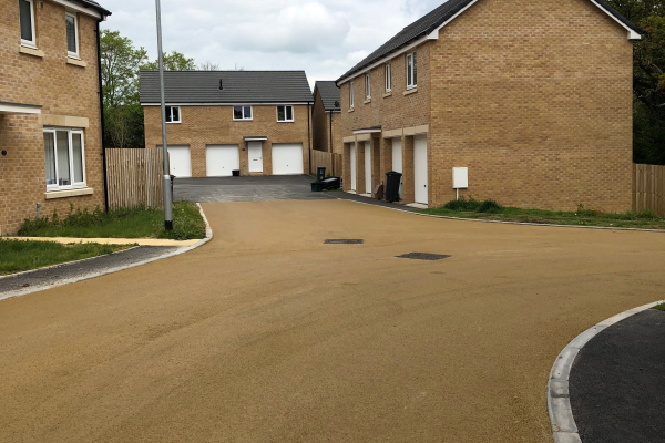 Residential Road in NatraTex Cotswold Buff 1