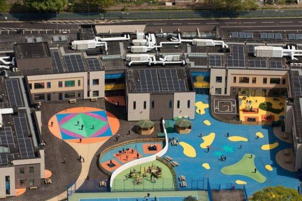 Coloured Playground At Feltham School