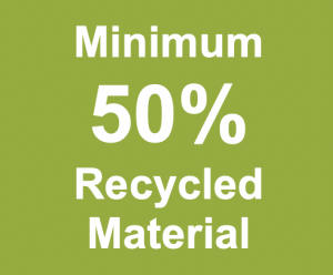 Minimum 50% Recycled Material