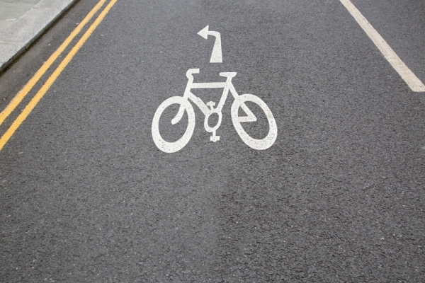Cycle Path with Road Marking